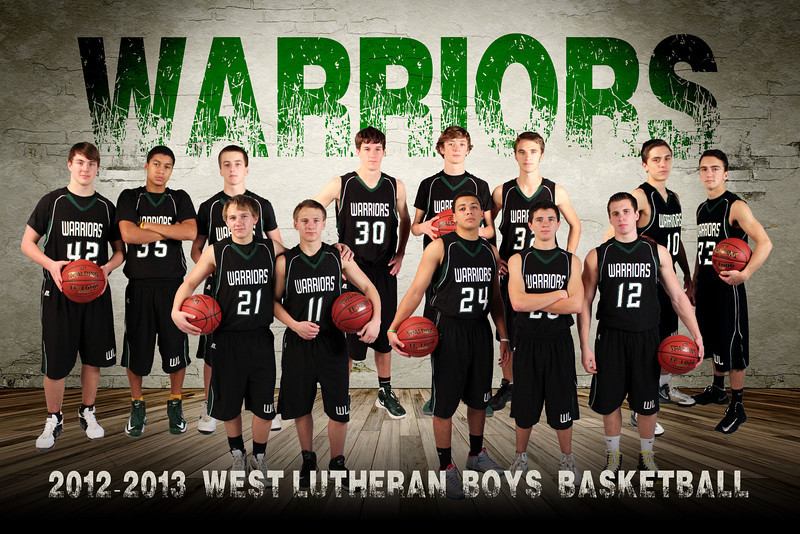 Boys Basketball Posters West Lutheran Boy's Basketball
